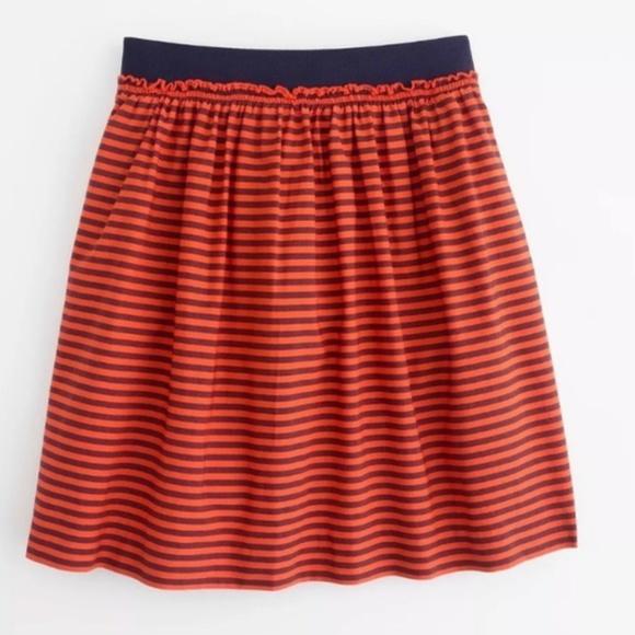 J. Crew Dresses & Skirts - Jcrew Orange and Blue Striped Skirt